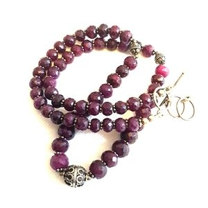 Jewelry - Faceted ruby necklace